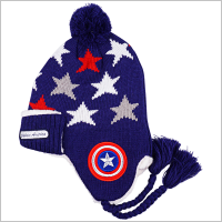 마블 캡틴아메리카 파워방패 니트모자 [겨울털모자](472642)