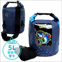 다이몬쥬 스페이스 샤크 드라이백 5L [어깨끈2개/상어](748234)